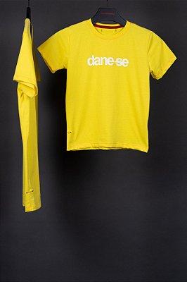 camiseta dane-se kauê kids amarelo