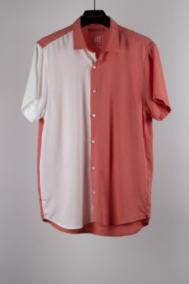 camisa modernista off/rosa