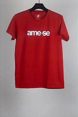 camiseta ame-se vermelho