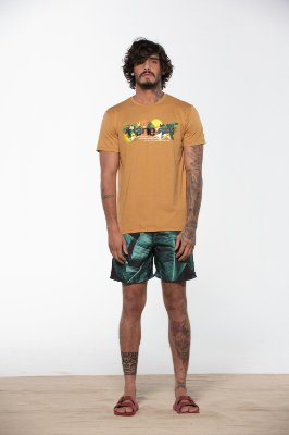 camiseta dane-se tropical marrom