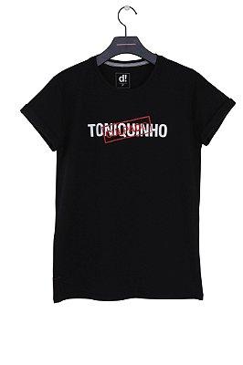 camiseta toniquinho preto