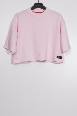 cropped moletom tag rosa