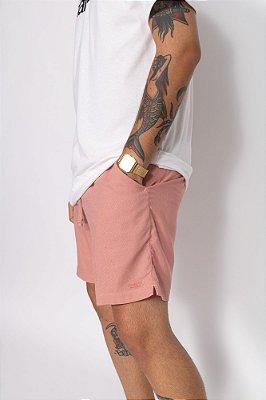 short linho rosa