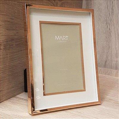 Porta Retrato Retangular em Metal 10cmx15cm Mart Collection Rose Gold