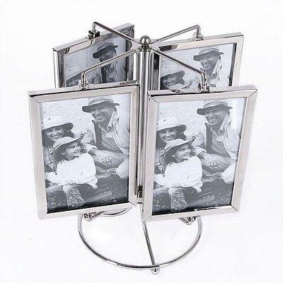 porta retrato giratório para 8 fotos 10x15cm