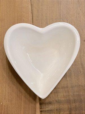 Petisqueira Coração de Porcelana Branca