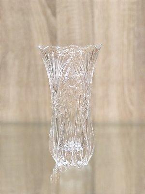 Vaso de Vidro Lapidado Riscas Estrelas