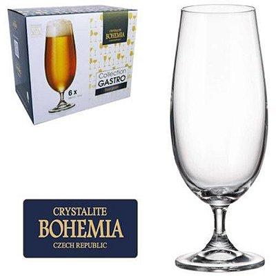 Jogo De Taca De Cristal Para Cerveja Com 6 Unds Gastro Bohemia 380ml