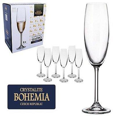 Jogo de Taça de Champagne Gastro 220 ml 6 Peças Bohemia