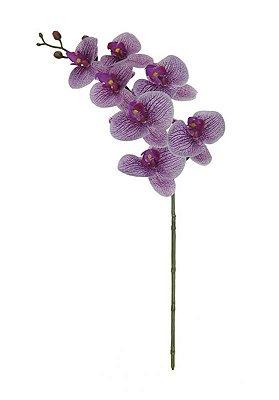 Flor de orquidea phalaenopisis toque real de silicone rosa pigmentada 73cm