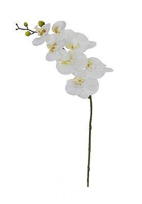 orquidea phalaenopisis toque real silicone branca 73cm