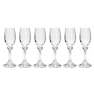 Jogo de taças de cristal para licor bohemia Elisa 65 ml 6 unidades