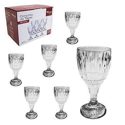 Jogo de taças de vidro para licor Sintra 6 unidades com 95ml