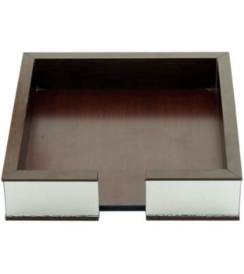 Porta guardanapo de madeira espelhado 20x20x4,5