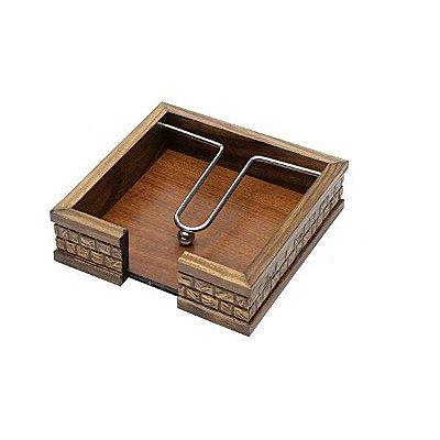 porta guardanapo de madeira coquinho