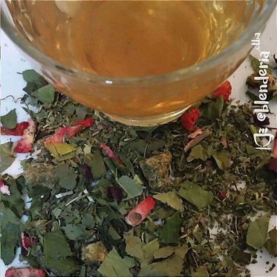 Abacaxi, morango, folha de maracujá, hortelã e hibisco 20g