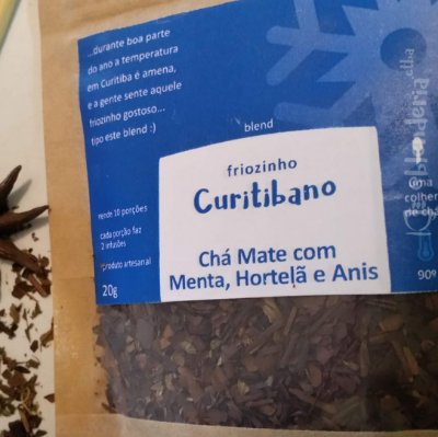 Friozinho Curitibano - Chá Mate com Menta, Hortelã e Anis 20g