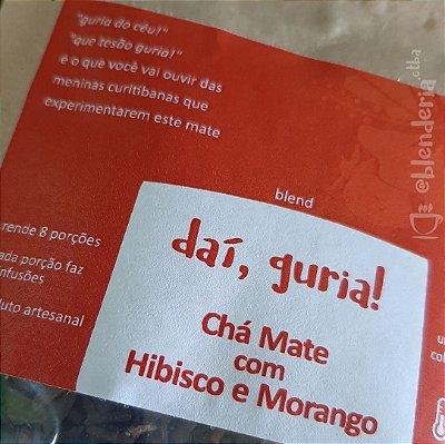 """""""daí, guria!"""" - Chá Mate com Morango e Hibisco 20g"""