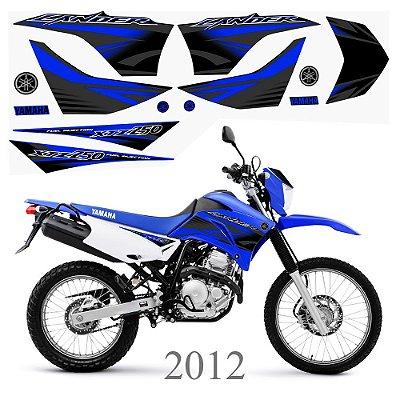 Faixa Lander 250 azul grafismo 2012