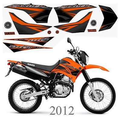 Faixa Lander 250 laranja grafismo 2012