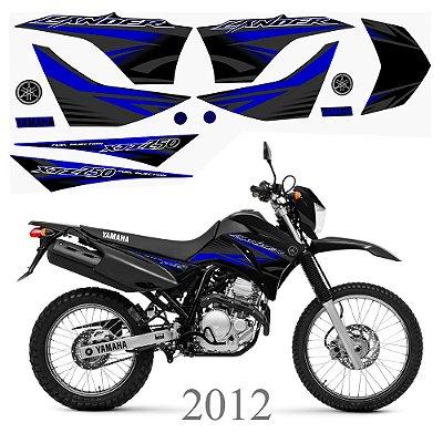 Faixa Lander 250 azul com preto grafismo 2012