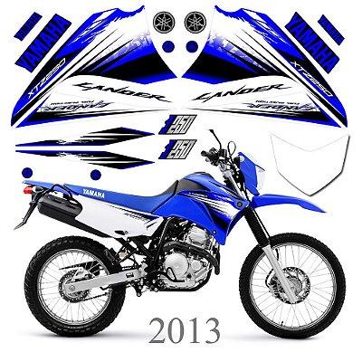 Faixa Lander 250 azul  grafismo 2013