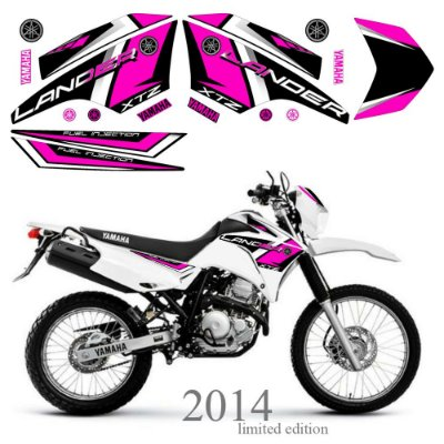 Faixa Lander 250 rosa grafismo 2014