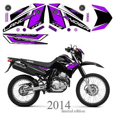 Faixa Lander 250 roxo grafismo 2014