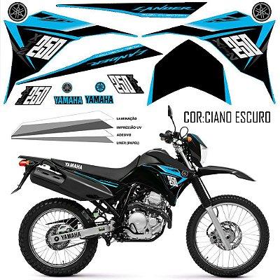 Faixa Lander 250 ciano grafismo 2015