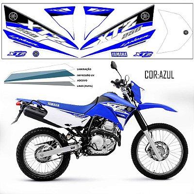 Faixa Lander 250 azul grafismo 2016