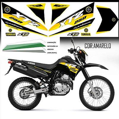 Faixa Lander 250 amarela grafismo 2016