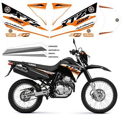 Faixa Lander 250 laranja  com branco grafismo 2016