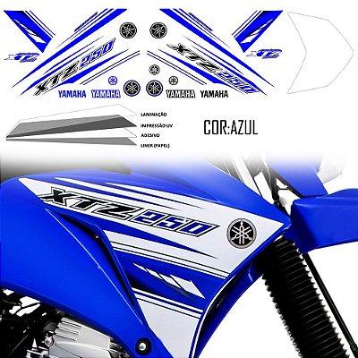 Faixa Lander 250 azul grafismo 2017 original