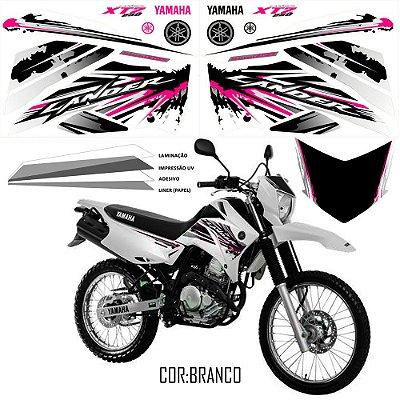 Faixa Lander 250 rosa com branco grafismo 2017 exclusivo
