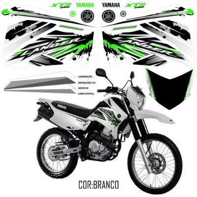 Faixa Lander 250 verde com branco grafismo 2017 exclusivo