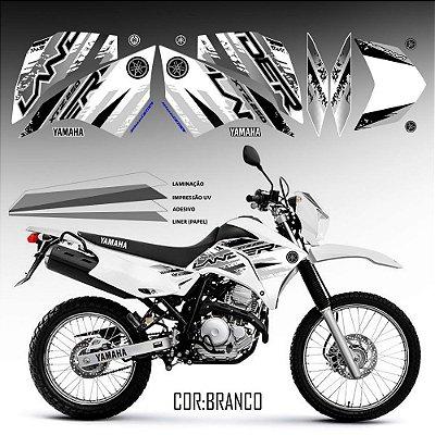 FAIXA Lander 250 grafismo 2018  branco com preto exclusivo