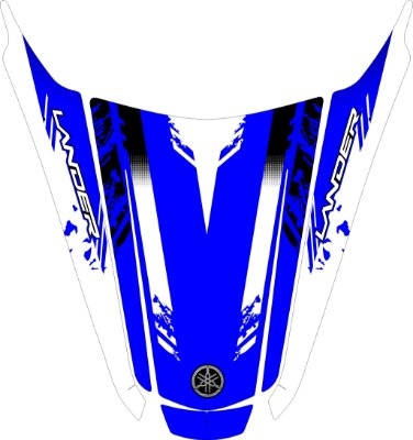 Adesivo de proteção para carenagem traseira rabeta Lander 250 azul (universal)