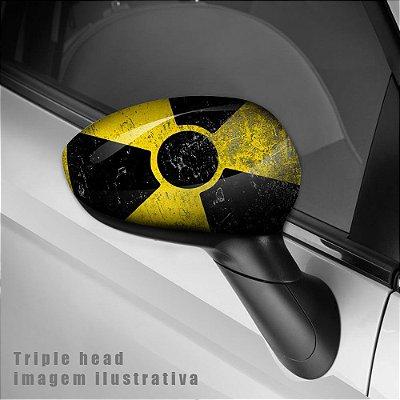 Radioativo envelopamento retrovisor