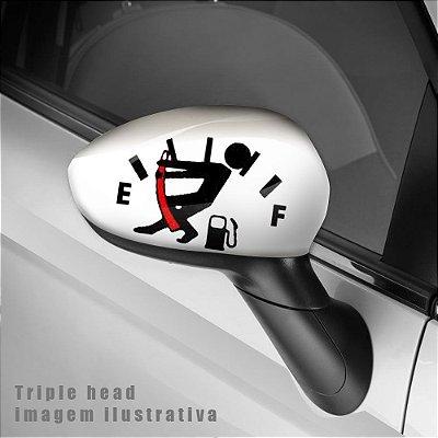 Sem combustível envelopamento retrovisor