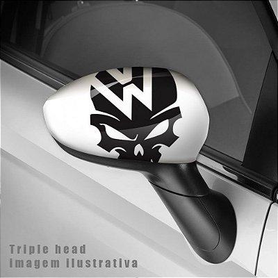 Volkswagen skull envelopamento retrovisor
