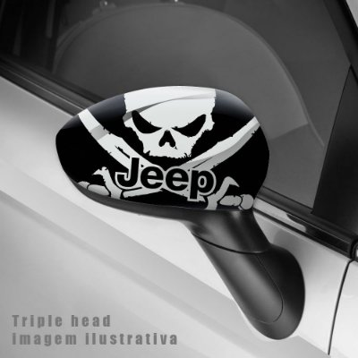 Jeep skull envelopamento retrovisor