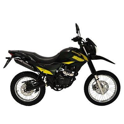 Faixa Shineray New Explorer 150cc  preto com amarelo