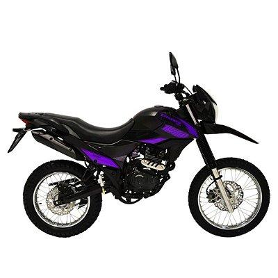Faixa Shineray New Explorer 150cc  preta com roxo