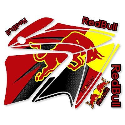 Faixa Shineray Gy Enduro 150cc  moto vermelha redbull