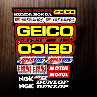 Adesivos refletivos Honda GEICO