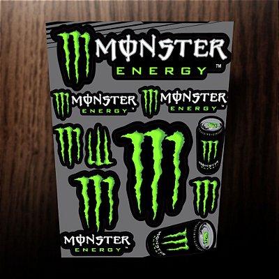 Adesivos refletivos monster energy verde