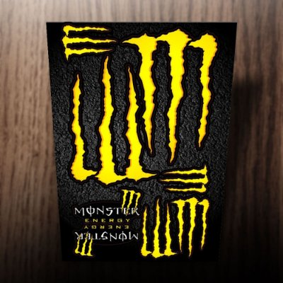 Adesivos refletivos monster energy amarelo
