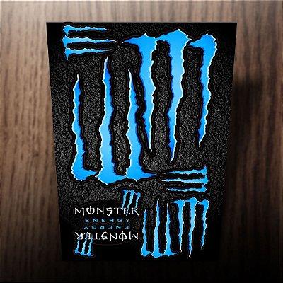 Adesivos refletivos monster energy azul ciano