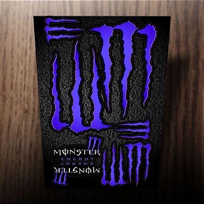 Adesivos refletivos monster energy roxo
