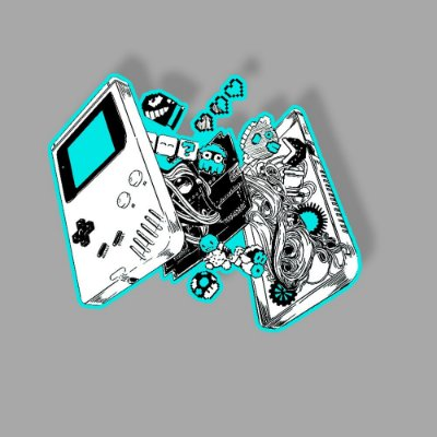 Inside of a Game Boy Sticker
